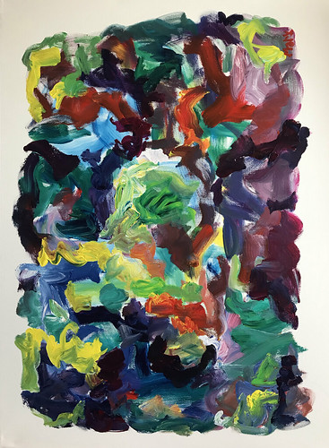 Susan Marx, When Night Arrives 2018 48x36 acrylic on canvas