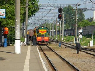 RZD ChME3-2827, Yaroslavskoe direction, Bolshevo station