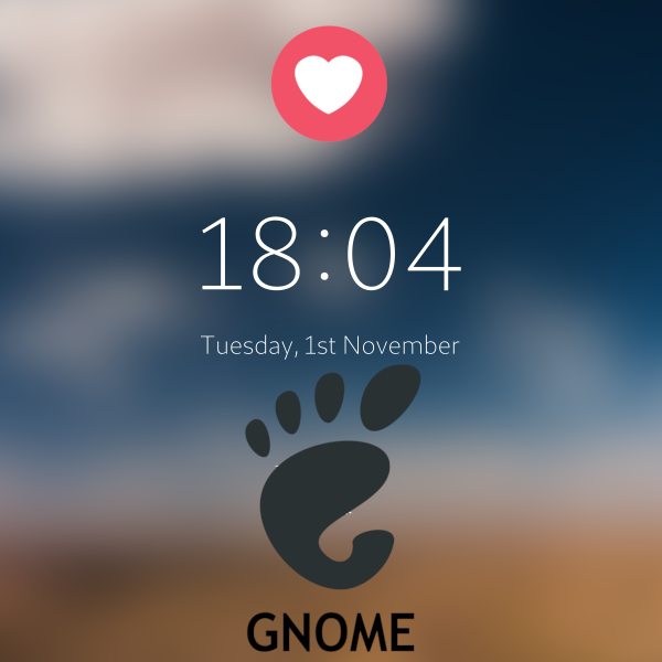 Login Screen GNOME 3.30 โคตรสวยเลย ฉันรักเธอ....