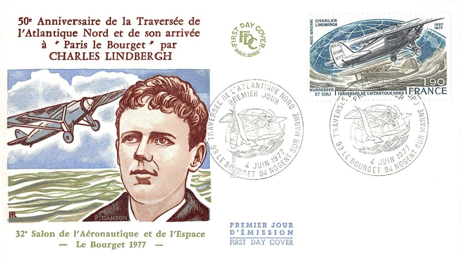 France - Scott #C49 (1977) first day cover
