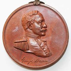 Dewey at Manila relic medal obverse