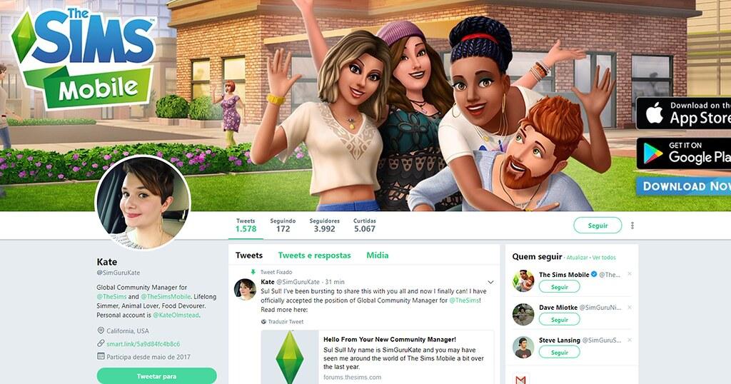 Foto de SimGuruKate é a Nova Community Manager do The Sims 4