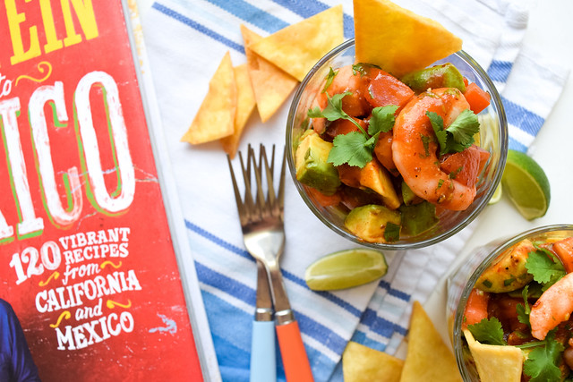 Mexican Prawn Cocktails from Rick Stein's Road To Mexico #prawn #shrimp #prawncocktail #shrimpcocktail #mexican #tomato #avocado #chipolte
