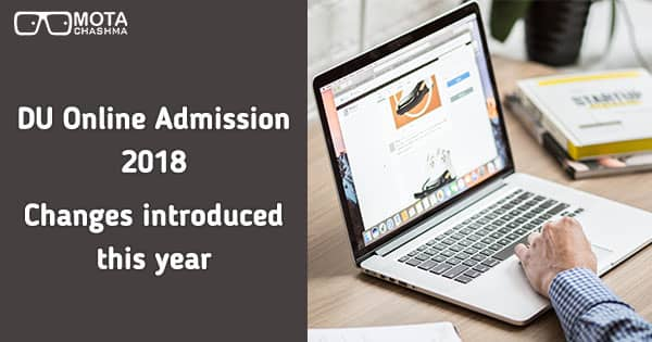 du online admission changes introduced this year