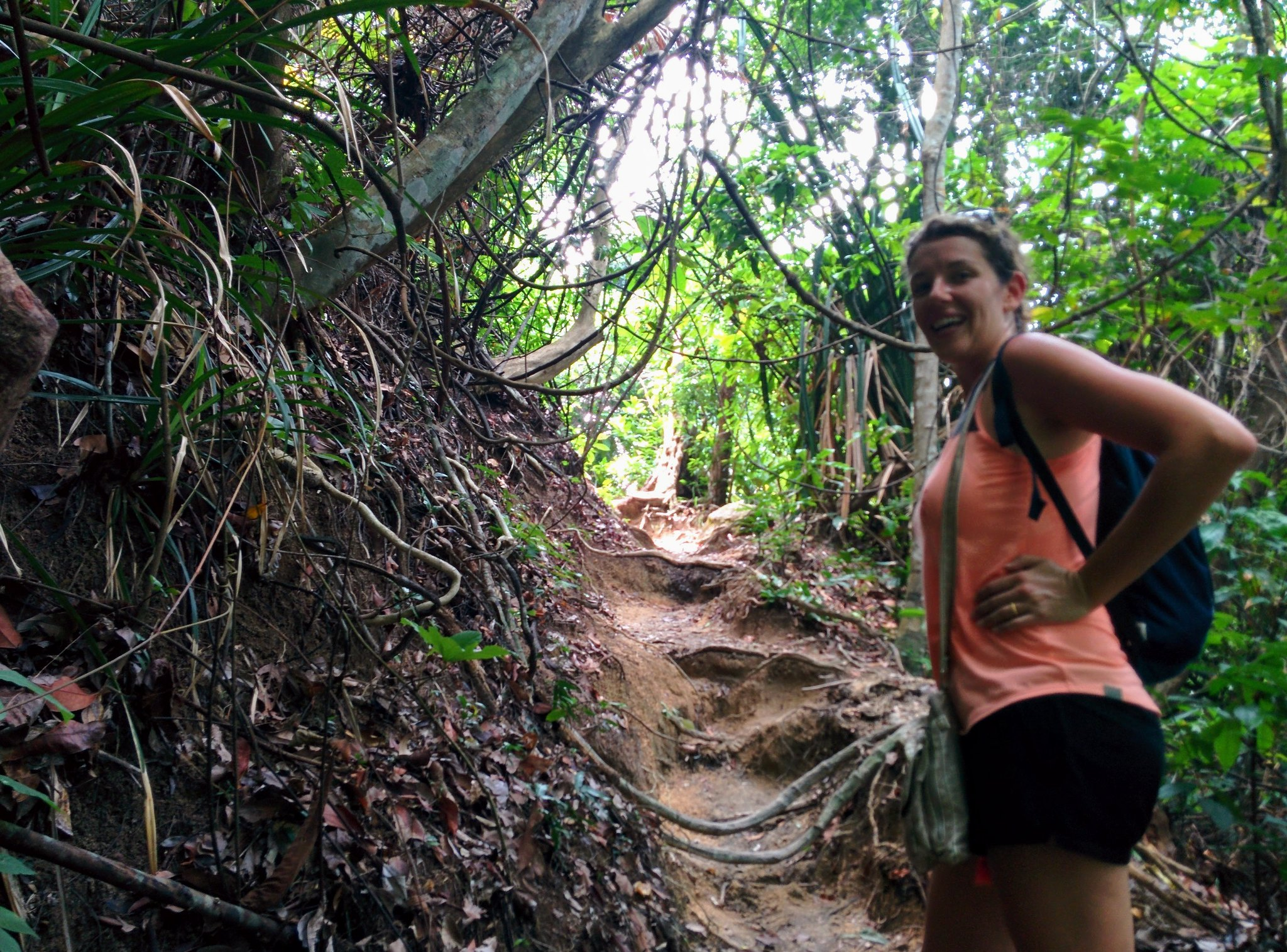 Marine on the jungle trail