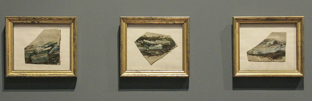 Eisschollen (Three Oil Studies of the Ice Drift on the River Elbe), Casper David Friedrich, c.1820-1