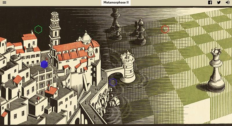 """Escher_1_Part_of_M.C._Escher's_""""Metamorphose_II""""_©_The_M.C._Escher_Company._All_rights_reserved."""