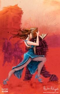 Ilustración. Tangos y letras para la revista Libros y Letras