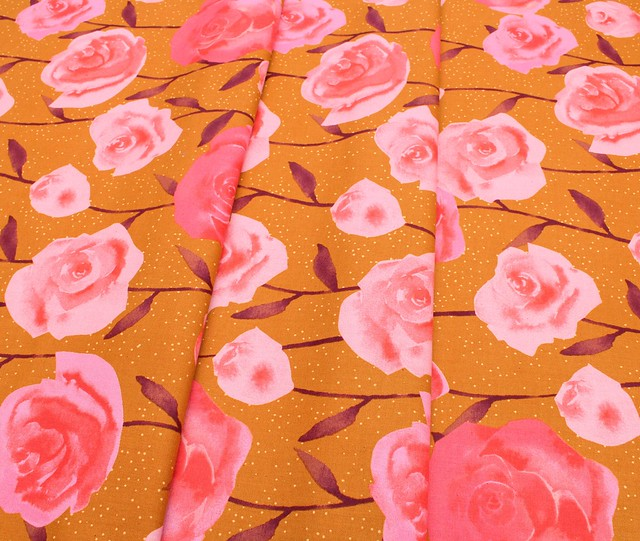 COTTON+STEEL Firelight C5179-01 Roses Caramel
