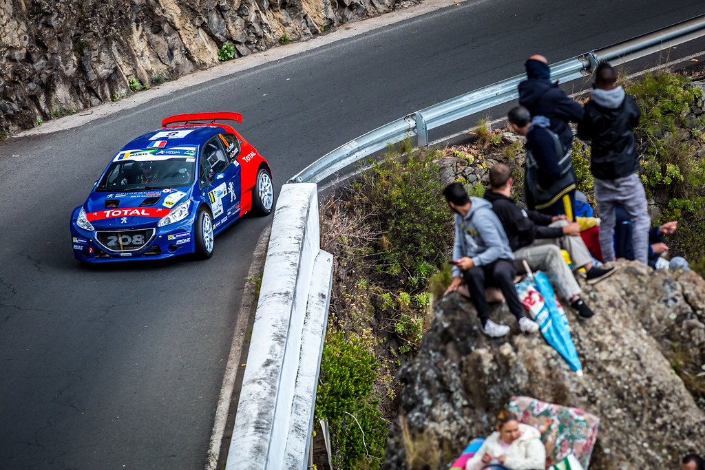 08 PELLIER Laurent (fra), COMBE Geoffrey (fra), PEUGEOT RALLY ACADEMY, PEUGEOT 208 T16, action during the 2018 European Rally Championship ERC Rally Islas Canarias, El Corte Inglés,  from May 3 to 5, at Las Palmas, Spain - Photo Thomas Fenetre / DPPI