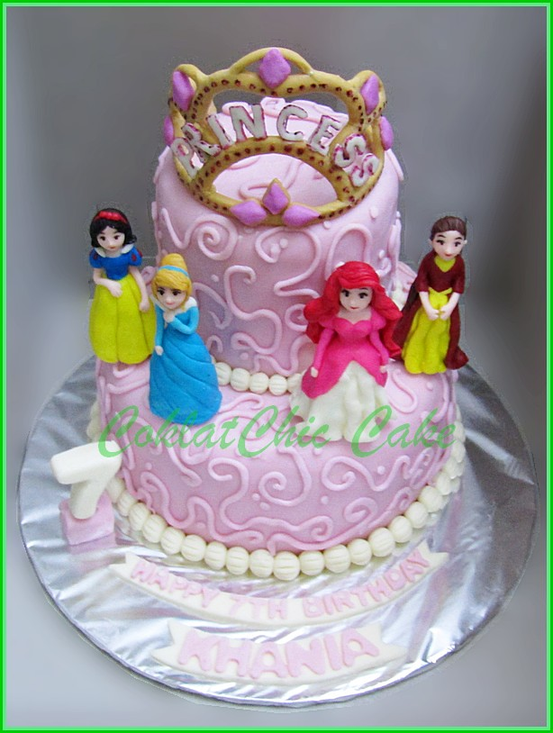 Cake Disney Princess KHANIA 15 cm dan 12 cm