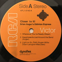 BRIAN AUGER'S OBLIVION EXPRESS:CLOSER TO IT!(LABEL SIDE-A)