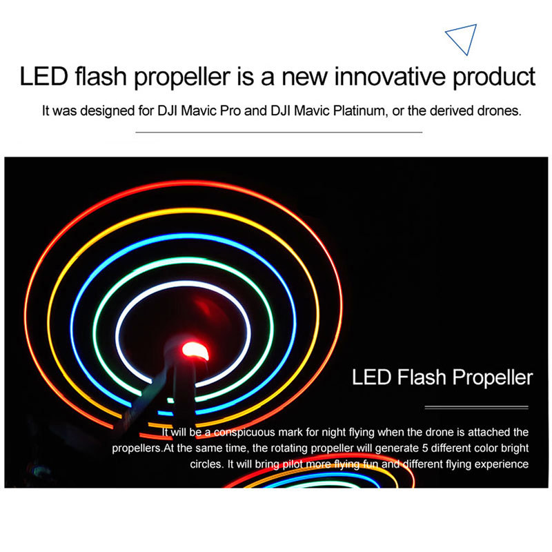 DJI Mavic Pro Platinum用 LEDプロペラ レビュー (4)