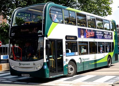 SK63 AUW 'Stagecoach Manchester' No. 12220. 'ADL' E40 Hybrid / 'ADL' Enviro 400 on 'Dennis Basford's railsroadsrunways.blogspot.co.uk'