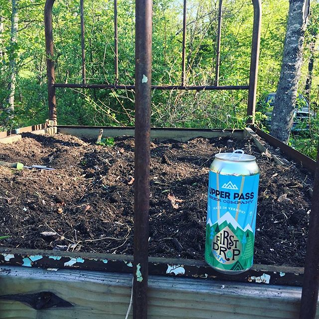 Prepping the flowerbed bed... 🌱🍺 🌱@upperpassbeer