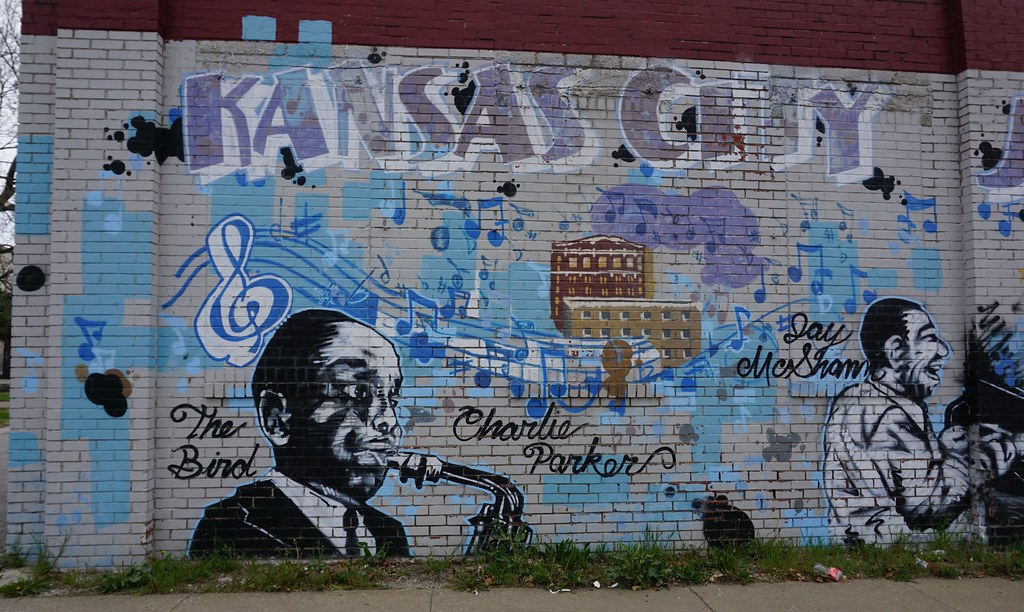 Jazz Artists Street Art - Brooklyn Avenue, Kansas City, Mo., April 21, 2018.