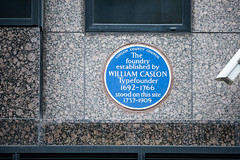 Photo of Caslon Foundry and William Caslon blue plaque