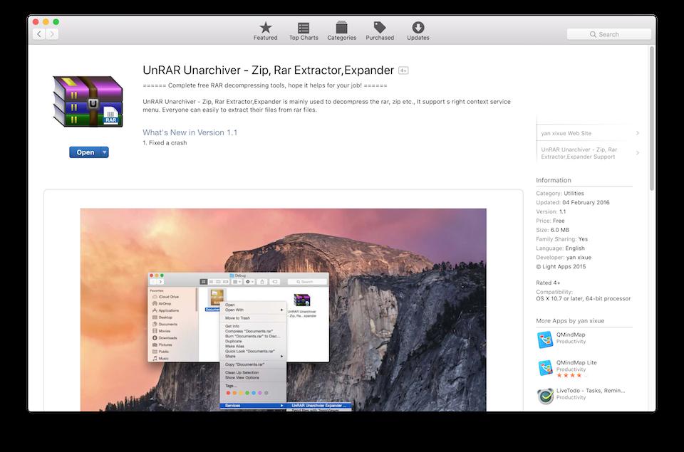 Cách mở file rar trên macOS