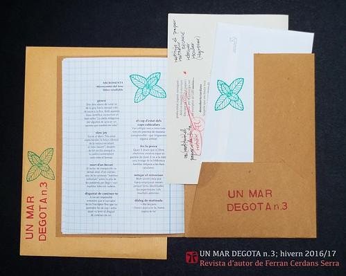 Un mar degota n.3, revista i adjunts, Ferran Cerdans Serra, 2016