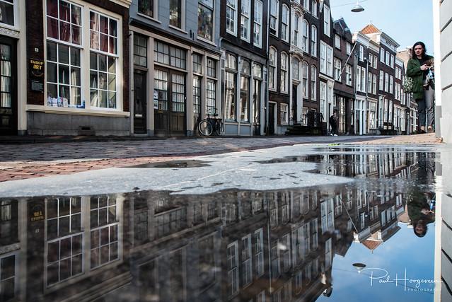 Puddle reflection candid @ Dordrecht, Nikon D750, Sigma 24-105mm F4 DG OS HSM