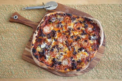 (nicht so scharfe) Pizza Diavoli