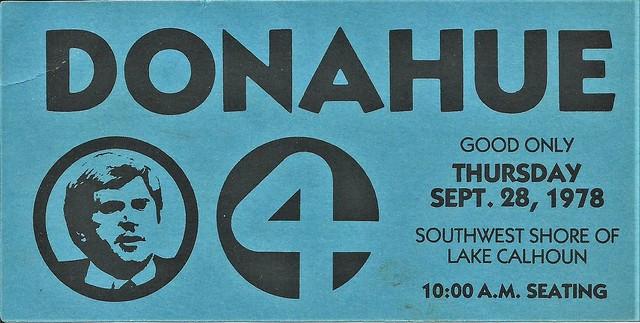 Donahue ticket, 1978