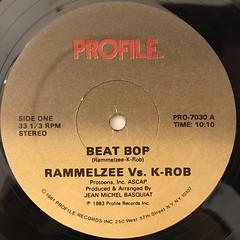 RAMELZEE VS. K-ROB:BEAT BOP(LABEL SIDE-A)