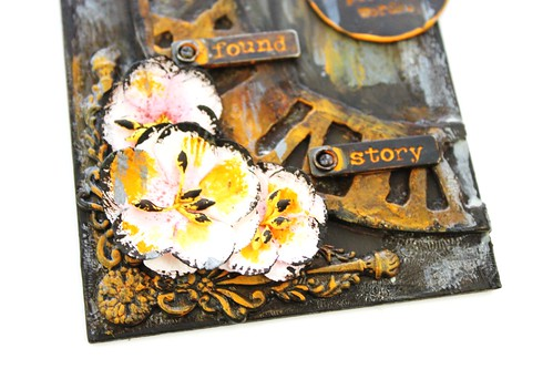 Meihsia Liu Simply Paper Crafts Mixed Media Tag Time Out Simon Says Stamp Tim Holtz 5
