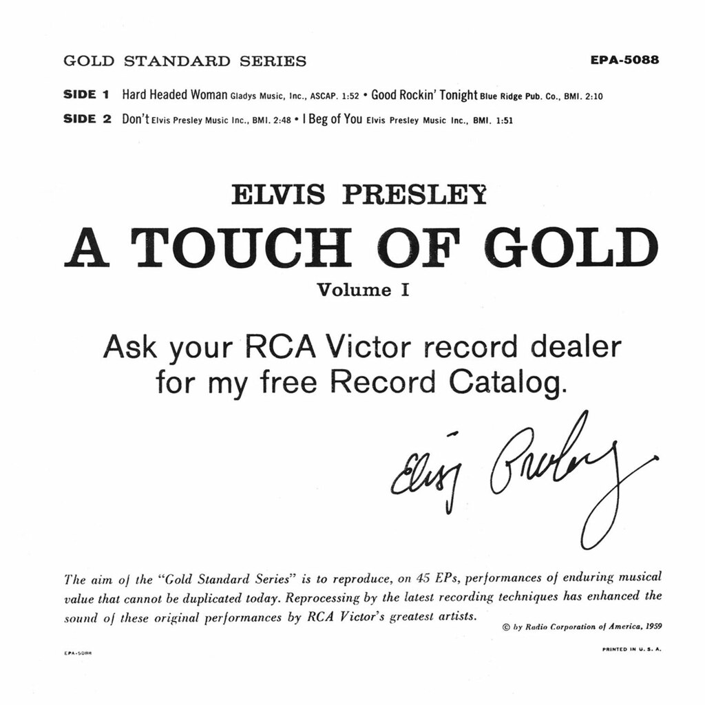 Elvis Presley - A Touch of Gold Volume I