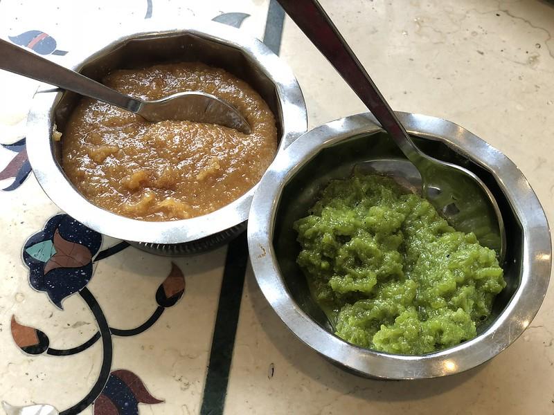 Rajdhani Thali Restaurant- Artesia, CA: Halva and Mohanthal