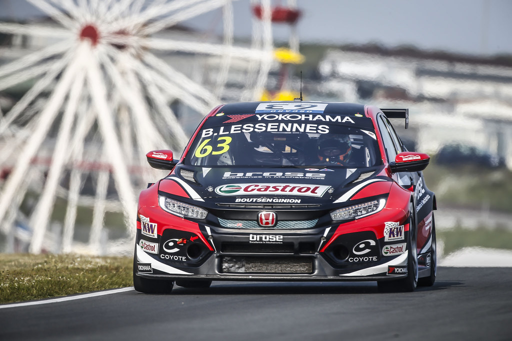 63 LESSENNES Benjamin, (bel), Honda Civic TCR team Boutsen Ginion Racing, action during the 2018 FIA WTCR World Touring Car cup of Zandvoort, Netherlands from May 19 to 21 - Photo Francois Flamand / DPPI