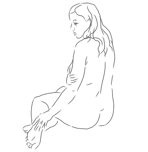 """Kerri"", digital ART, live model session, November 2017"