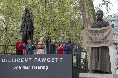 Millicent Fawcett statue unveiling