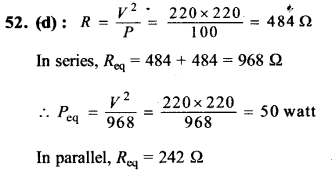NEET AIPMT Physics Chapter Wise Solutions - Current Electricity explanation 52