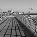 Blackpool promenade B&W
