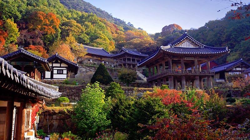 Salah satu calon situs warisan dunia, Vihara Buseok (Buseoksa) di Yeongju, Chungcheong Selatan.