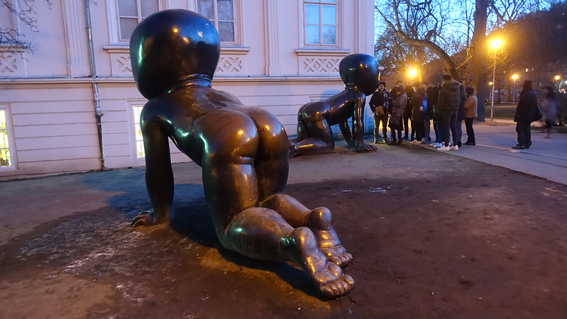 """Babies"" by David Černý, Kampa Island, Prague"