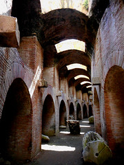 Elliptical underground passage of Pozzuoli amphitheatre - 2nd century AD