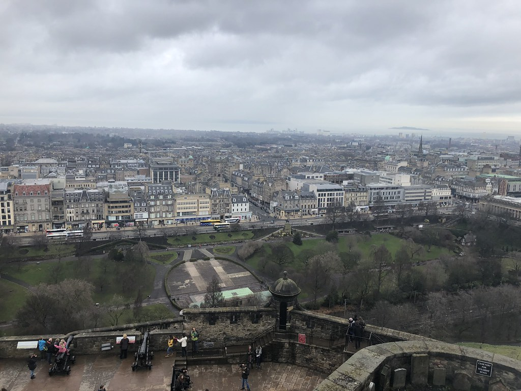 views from Edinburgh Castle, Edinburgh Scotland, UK