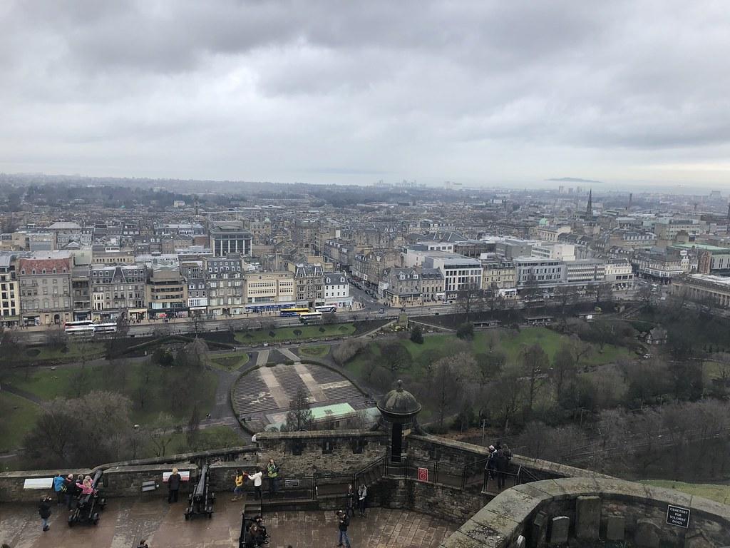views from Edinburgh Castle, Edinburgh Scotland, UK