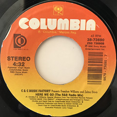 C & C MUSIC FACTORY:HERE WE GO(LABEL SIDE-A)