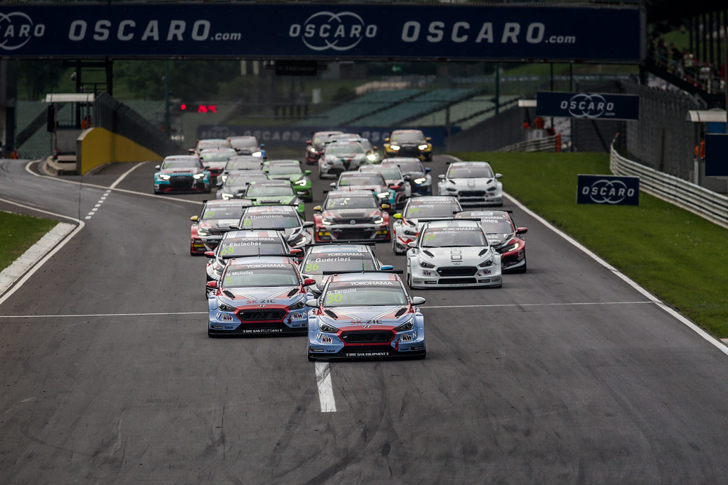 Start Race 3 during the 2018 FIA WTCR World Touring Car cup, Race of Hungary at hungaroring, Budapest from april 27 to 29 - Photo Thomas Fenetre / DPPI