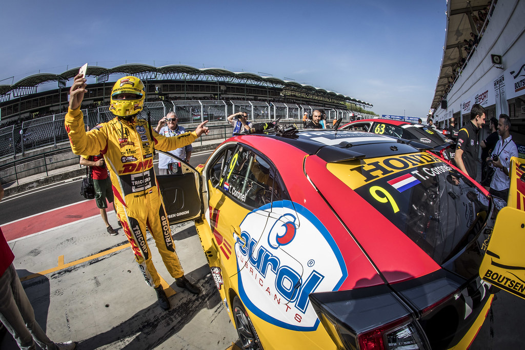 CORONEL Tom (NLD), Boutsen Ginion Racing, Honda Civic TCR, portrait, stand pit lane,  during the 2018 FIA WTCR World Touring Car cup, Race of Hungary at hungaroring, Budapest from april 27 to 29 - Photo Gregory Lenormand / DPPI