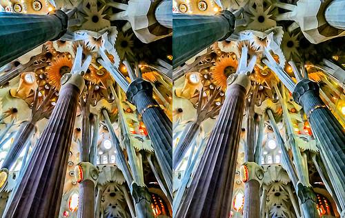sagradafamilia barcelona catalunya spain gaudì 3d stereophotography stereoscopy steroscopia