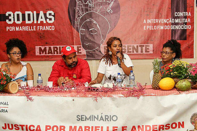 "Seminar organized by movements and political organizations is part of the ""30 Days for Marielle"" Campaign - Créditos: Rafael Stedile"