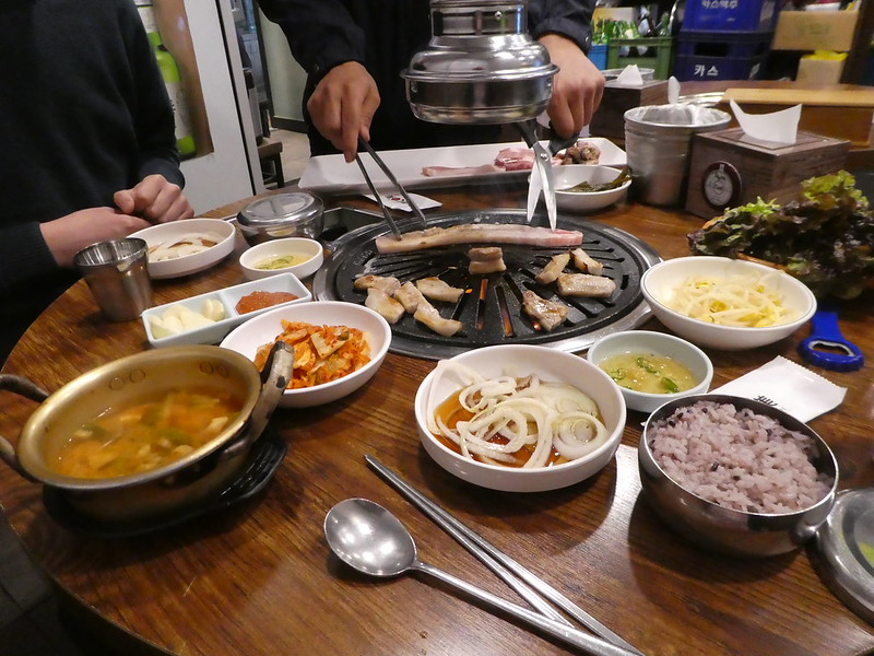 Korean barbecue in Insa-dong, Seoul