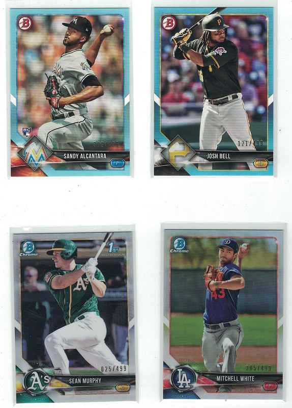 2 Hobby Boxes Of 2018 Bowman And 4 Blasters From Target Orange