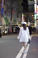 ナースキャップにワンピース白衣