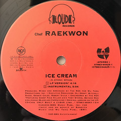 RAEKWON:ICE CREAM(LABEL SIDE-A)