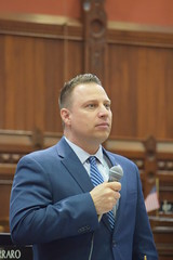 Rep. Rob Sampson (R-Southington, Wolcott) speaks on the House floor, May 8, 2018.